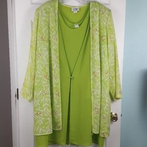 X-land Dolce Tank Top with Cardigan Blouse 2XL